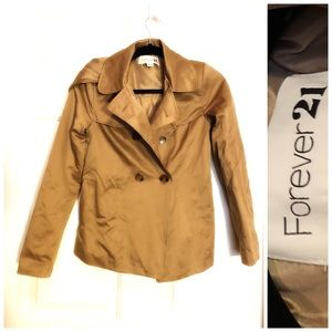 MOVING SALE Tan Blazer with Hoodie